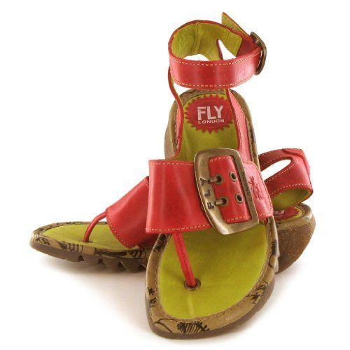 TULA!!  Fly London Tula Rubi Leather Womens Sandals