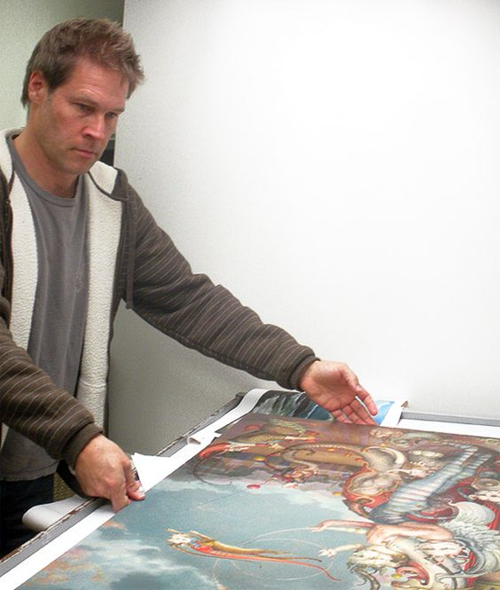 Daniel Merriam Working on New Collection of Paintings for Animazing Gallery