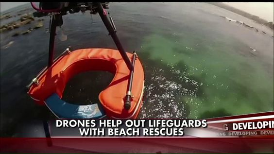 Drones are being tested to help beach lifeguards with rescuing swimmers who need help in Chile.