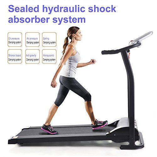 Motorised Treadmill Electric Foldable Running Machine With 3 5 Level Manual Incline Portable Compact Heavy Duty App Control Machine For Gym Home Exercise Zozh