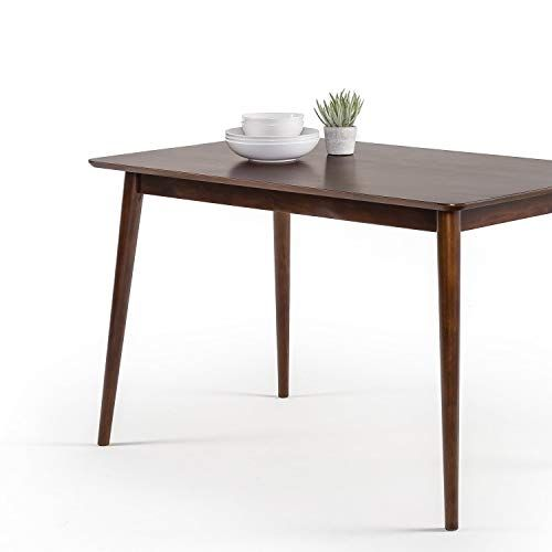 Dining Modern Pine Wood Table Espresso 2 4 Person With Rounded