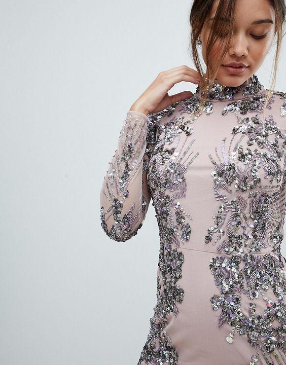 H3k404 Sukienka Na Wesele Midi Zdobiona 42 O00 7448705592 Oficjalne Archiwum Allegro Sequin Midi Dress Dresses Midi Dress