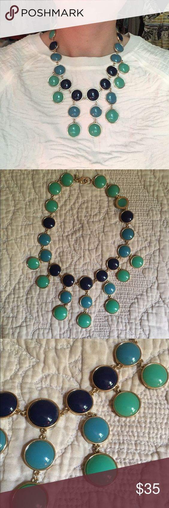 Banana Republic Blue & Green Statement Necklace Colorful and fun statement necklace from Banana Republic. Perfect condition, worn once. Banana Republic Jewelry Necklaces