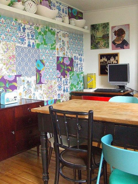wallpaper with scrapbook paper?