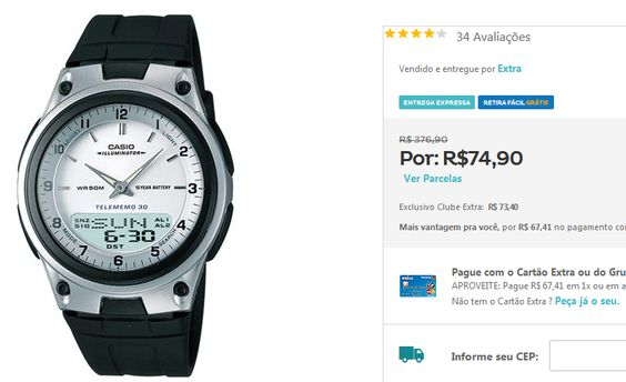 Relógio Masculino Anadigi Casio AW-80-7AVDF << R$ 6741 >>