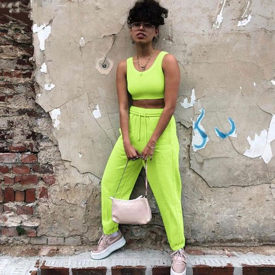 Material: Polyester, Spandex •  Length: Full Length •  Style: Flat, Cargo Pants, Casual •  Decoration: Pockets •  Type: Elastic Waist, Knitted, High, Solid