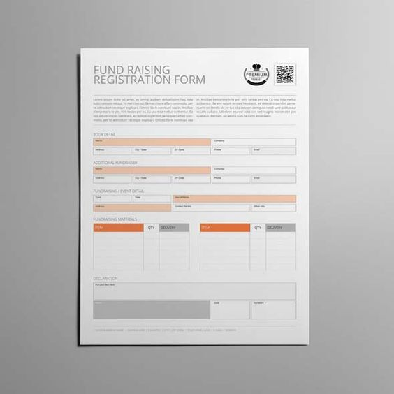 Fundraising Registration Form - Download this free Fundraising - fundraising form template