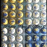 Blue and Yellow Cake Balls by Pretty Pops in Cypress, Tx