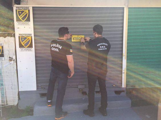 09/03/2016 - Operação Caça Níquel da Fiscalização de Caxias do Sul, RS: