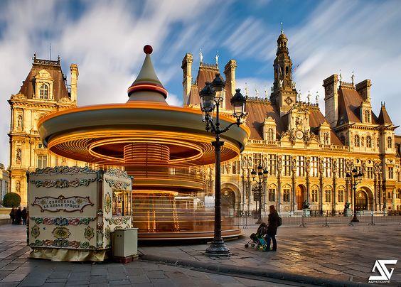 Hôtel de Ville, Paris, France (HDR)  Facebook / Google+ / Instagram