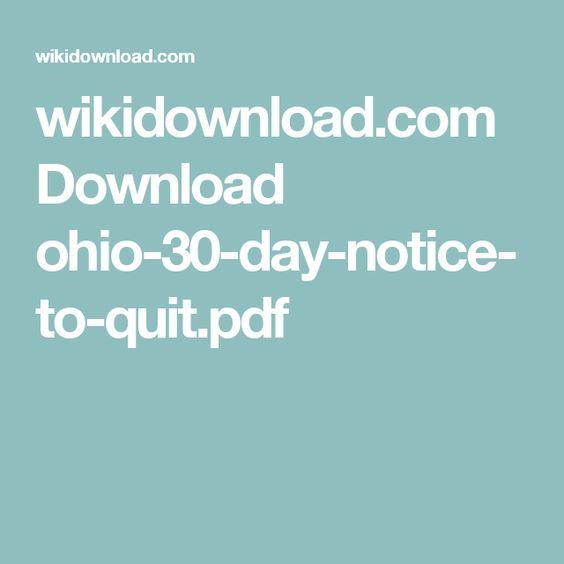 WikidownloadCom Download OhioDayNoticeToQuitPdf  Rentals