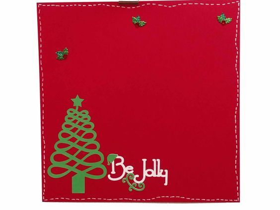 Be Jolly Christmas/ Holiday 12x12 Premade Scrapbook Page by JensMemoryMakers on Etsy