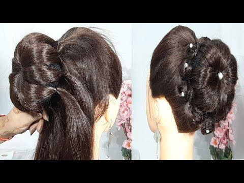 New Latest Updo Hairstyle For Weddings Juda Hairstyle For Girls Party Hairstyle Updo Hairstyle Hair Styles Simple Wedding Hairstyles Wedding Hairstyles