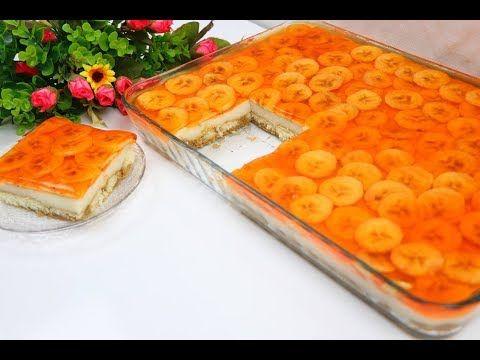 كيكة باردة في 10 دقائق بدون بيض وبدون كريمة سهلة وقمة في الروعة بمكونات بسيطة تحلية بموز وجيلي Youtube Arabic Sweets Recipes Food Sweets Recipes