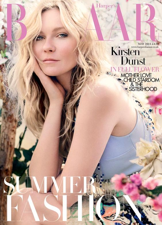 Kirsten Dunst for Harper's Bazaar UK May 2014