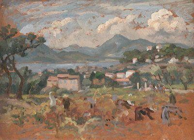 Beyond Avignon Fine Art Print by Roger Eliot Fry