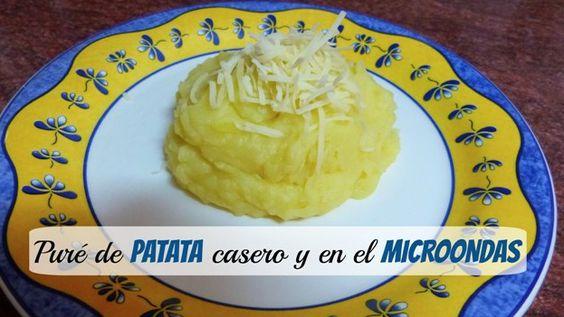 Chic@s, hoy para comer os proponemos la #receta de puré casero al microondas. Super fácil de hacer ¡Compartid!