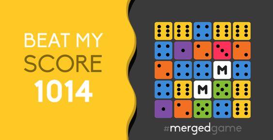 Beat my score! #mergedgame http://merged.it