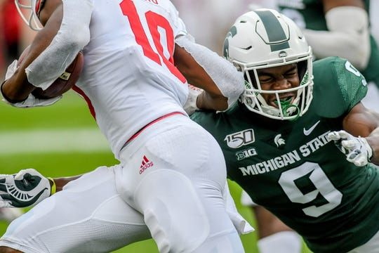 Michigan State Football Players Find Out Brothers Come In Handy In Workouts In 2020 Michigan State Football Michigan State Football Techniques