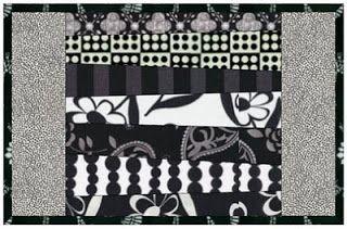 Quilting Tutorials: Free Mug Rug Quilt Pattern - Wonky Stripes