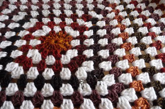 Free Crochet Mosaic Afghan Pattern : Crochet Mosaic Granny Stitch Square Blanket - Free Pattern ...