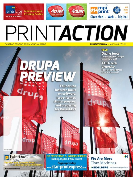 Shopping For Business Growth by Victoria Gaitskell (Print Version) (PrintAction May 2016) Report on a media conference of more than 100 print journalists who descended on Düsseldorf in early March for a firsthand look at some of the technologies and strategies that will be unveiled at drupa 2016.