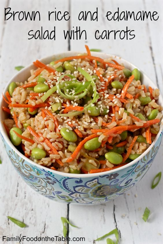 Edamame salad, Edamame and Brown rice on Pinterest