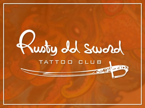 "Giuseppe Gerbino | Logo design for the ""Rusty old sword"" tattoo club"