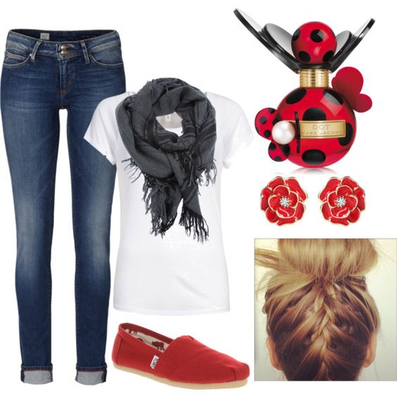 Simple school outfit- anyone could sport this