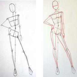 نحوه طراحی فیگور برای طراحی لباس 人体デッサン 人体 デッサン