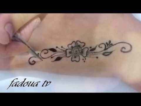 2 رسومات بالحناء السوداء سهلة و بسيطة Henna Tattoo Youtube Henna Tattoo Simple Mehndi Designs Tattoos