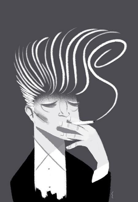 David Lynch.  Leo Espinosa illustrator.  http://www.studioespinosa.com/