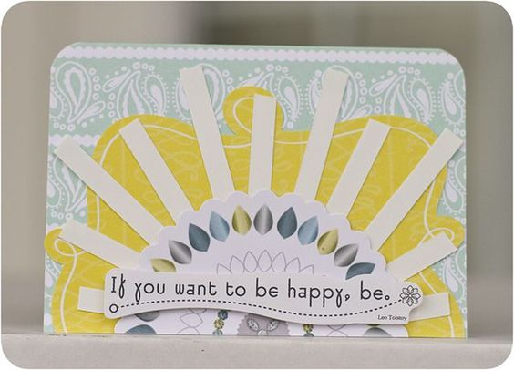 If You Want to be Happy, Be - Just Because Card Set #Scrapbooking Card from Creative Memories