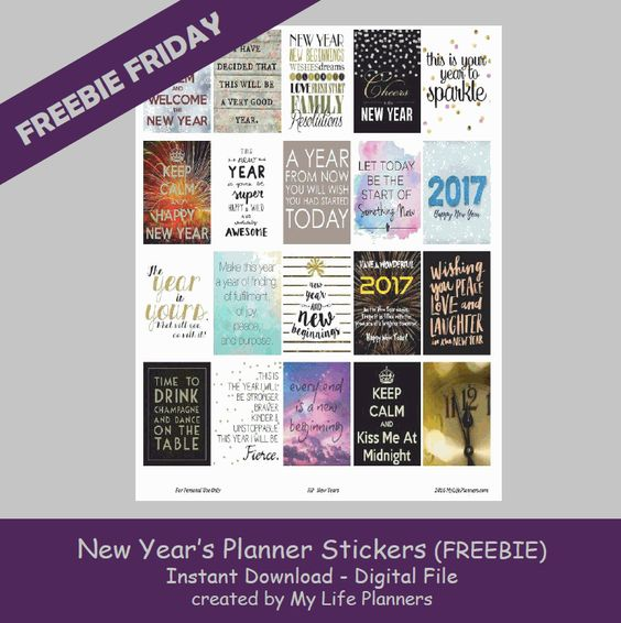 FREE New Year Planner Stickers BY My Life Planner