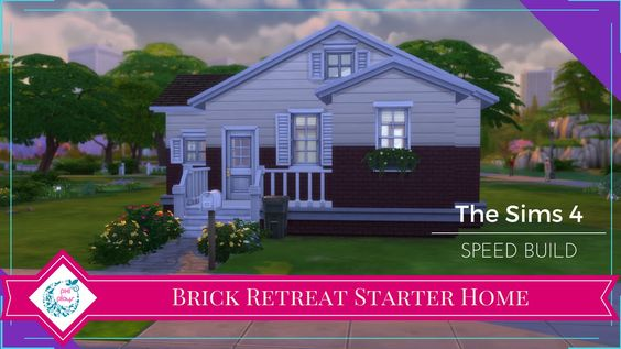 The Sims 4 Speed Build - 05 - Brick Retreat Base Game Starter Home