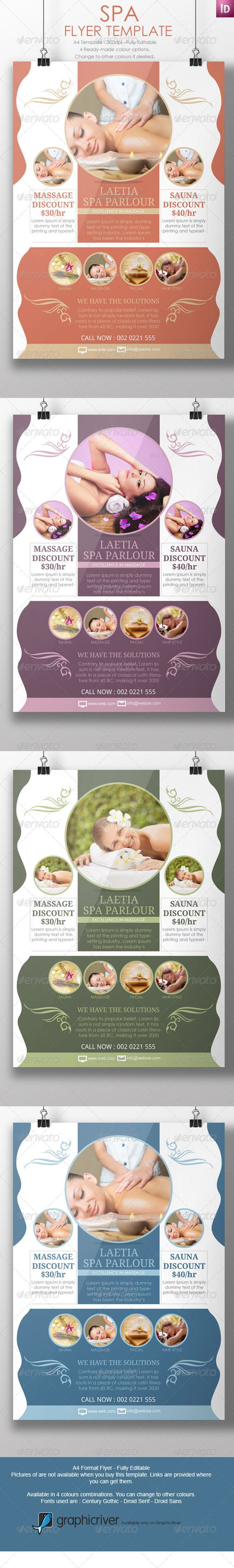 spa flyer template marketing flyer template and flyers spa marketing flyers