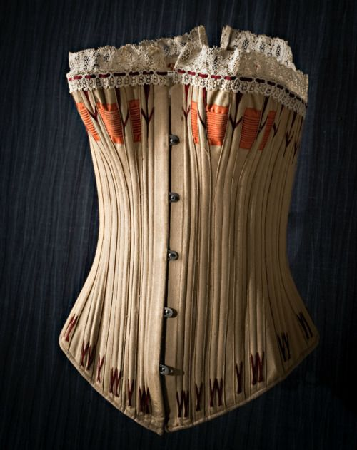 Corset ca. 1860-90  From the Nordiska Museet