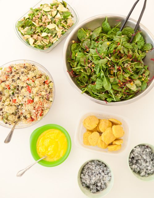 Today's Lunch at Whole Living: Summer Salads and Blueberry Shortcake, Wholeliving.com #lunchbunch #glutenfree