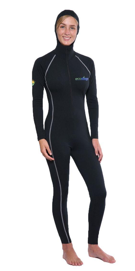Women Full Body Uv Swimsuit Stinger Suit Dive Skin Hood