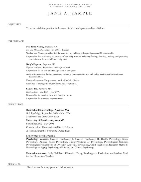 resume for daycare worker - Google Search Resume Examples - day care aide sample resume