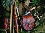Archery, archers bag and sharivari.