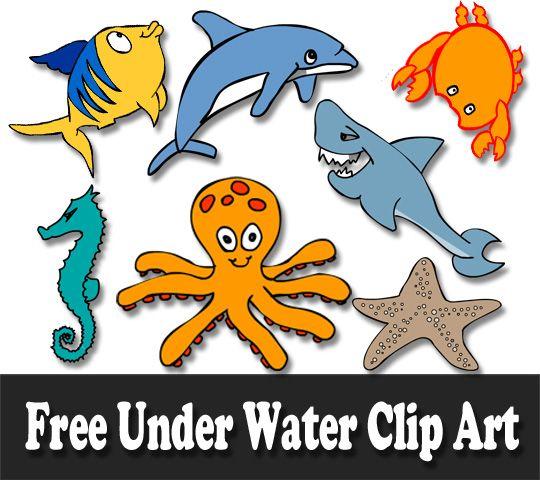 Free Marine Animals Ocean Animals Or Under Water Animals Clip Art Clip Art Marine Animals Ocean Animals
