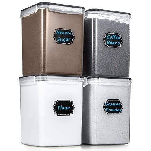 Large Cereal Storage Containers Wildone Airtight Cereal Dry Food Storage Containers For Sugar Flour Snack B In 2020 Dry Food Storage Sugar Storage Cereal Storage