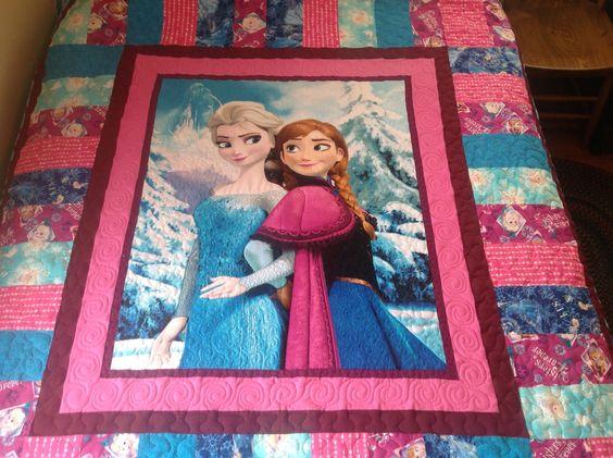 Frozen quilt almost done!