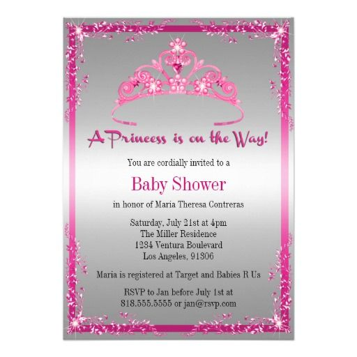 princess baby shower invitation baby shower invitations pinterest