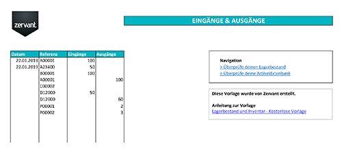 Lagerbestand Und Inventar Kostenlose Vorlage In Excel Excel Vorlage Lagerbestand Inventarliste Inventar Kostenlose Zervant Bestandsliste In 2020 Chart Bar Chart