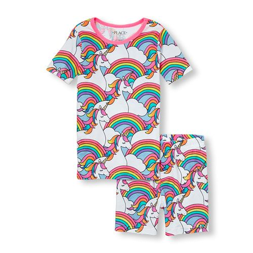 The Childrens Place Baby Girls Sleeve Pajama Short Set