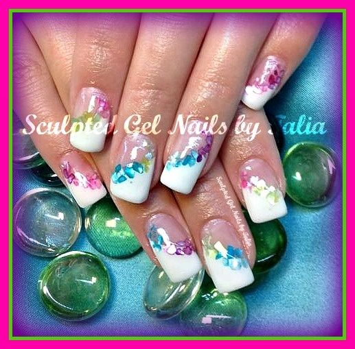 Nail Designs For Caribbean Vacation Hibiscus Flower Pedicure Nail Art Is The Ultimate Motif French Nail Designs Beach Nail Designs Vacation Nail Art