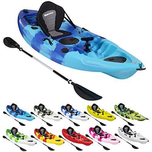 GoSea Vortex II Sit on Top Kayak Deluxe Bundle Red//Yellow//Red