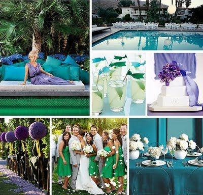 Unsure about colour schemes... :  wedding colour green help purple scheme teal yellow Purple Green Teal